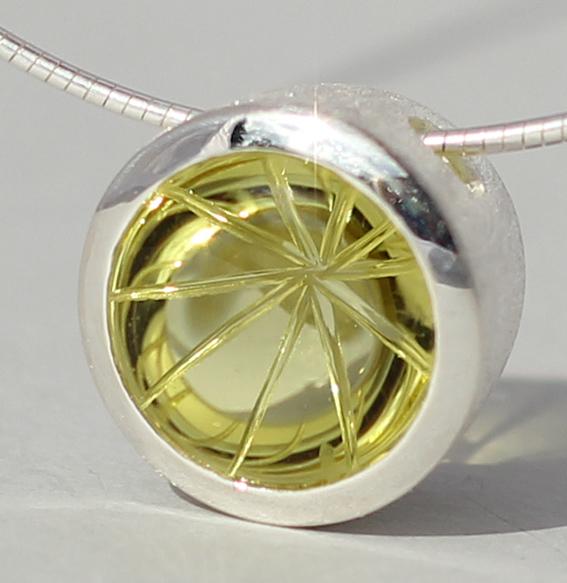 Silberanhänger mit Lemonquarz | Noblesse