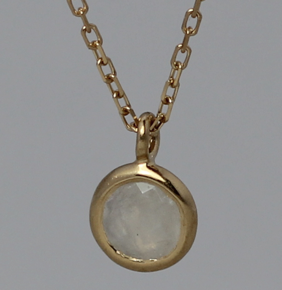 Silberanhänger vergoldet mit Mondstein | fineflat