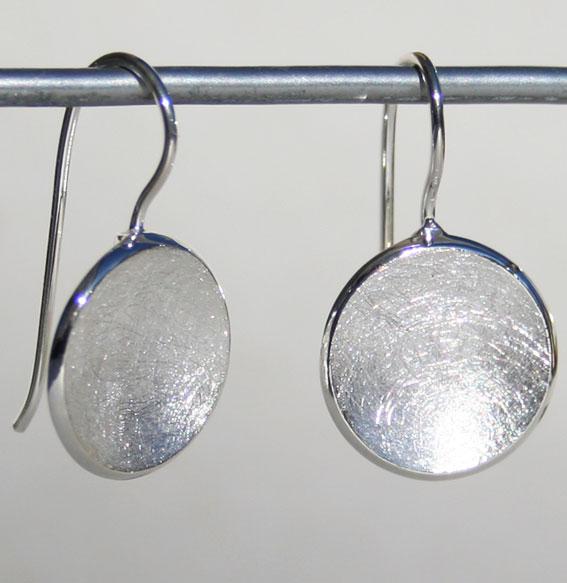 Silberohrhänger Schale klein