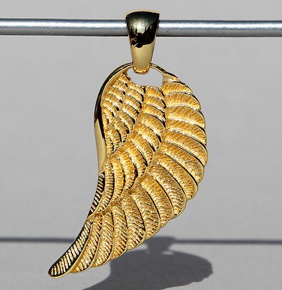 Silberanhänger vergoldet | Engelsflügel