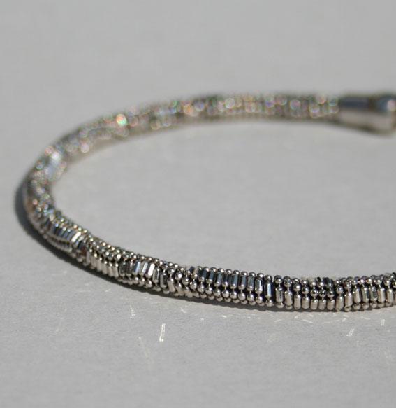 Silberkette -Kugel Kombi- 5 mm | geschwärzt