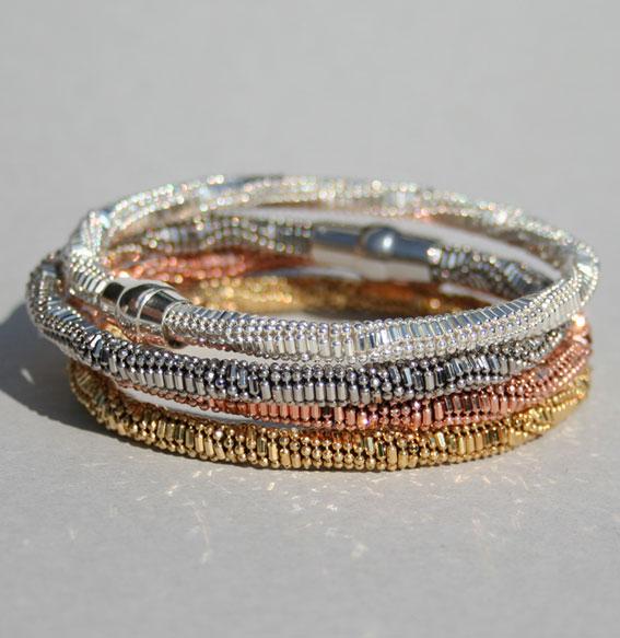 Silberarmband -Kugel-Kombi- 5 mm