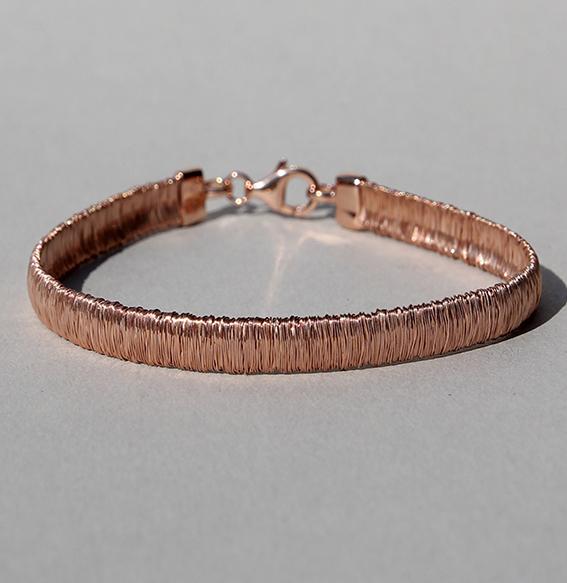 Silberarmband rosé vergoldet | River