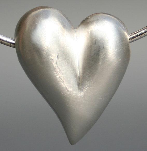Silberanhänger Herz | Mittel