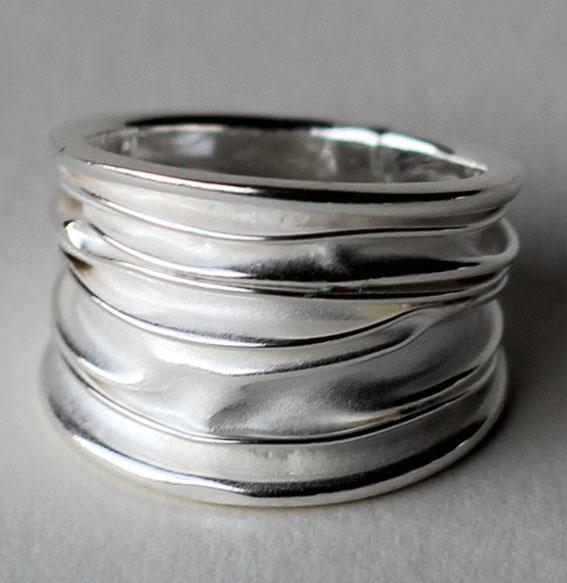 Silberring breit | Wave