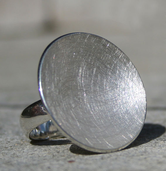 Silberring Schale