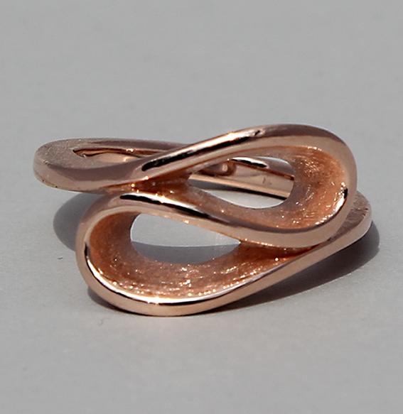 Silberring rosé vergoldet | Infinity