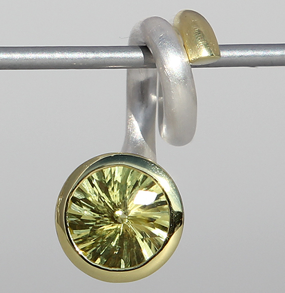 Silberanhänger teilvergoldet | Open Swirl