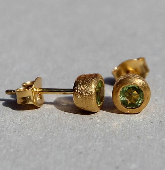 Ohrstecker -Fine- vergoldet mit Peridot