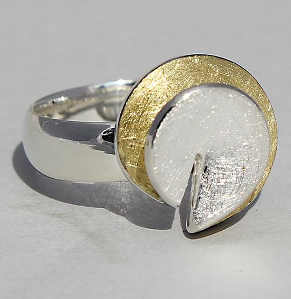 Silberring vergoldet | Falz