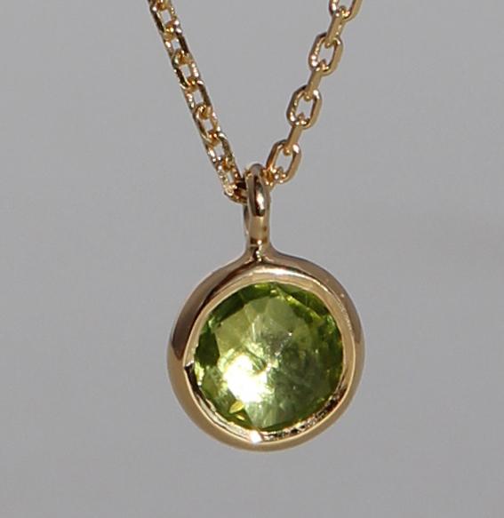 Silberanhänger vergoldet mit Peridot | fineflat