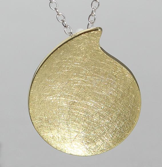 "Silberanhänger ""Streif"" Silber vergoldet"