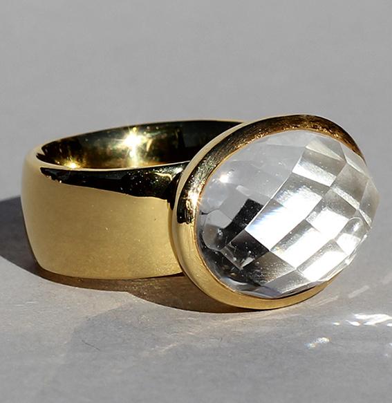 Silberring vergoldet | Elise