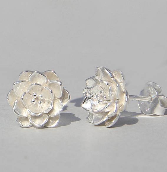 Silberohrstecker | Lotus