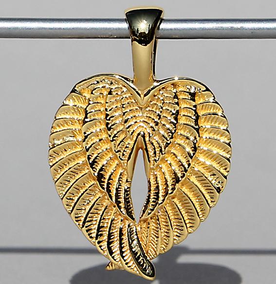 Silberanhänger vergoldet | Flügel