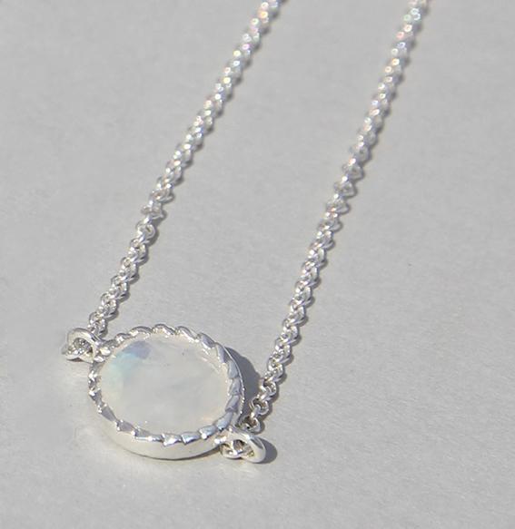 Silberarmband mit Mondstein | Spring sparkle