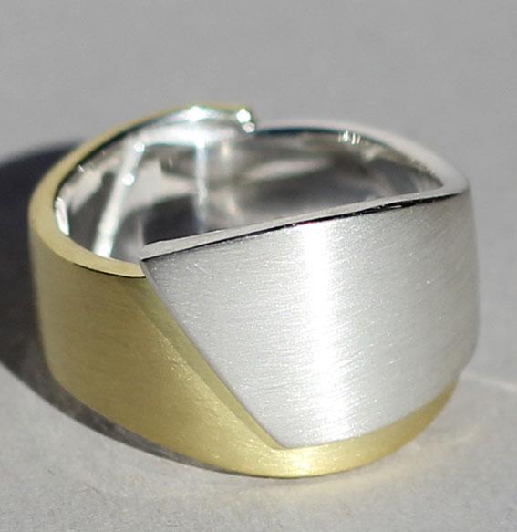 Silberring vergoldet