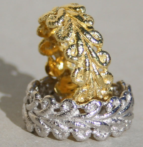 Silberring vergoldet | Spitze