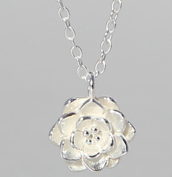 Silbercollier | Lotus