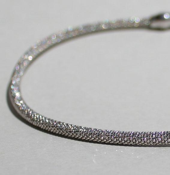 Silberkette -Kugel- 4 mm | rhodiniert