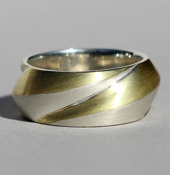 Silberring vergoldet | Crest