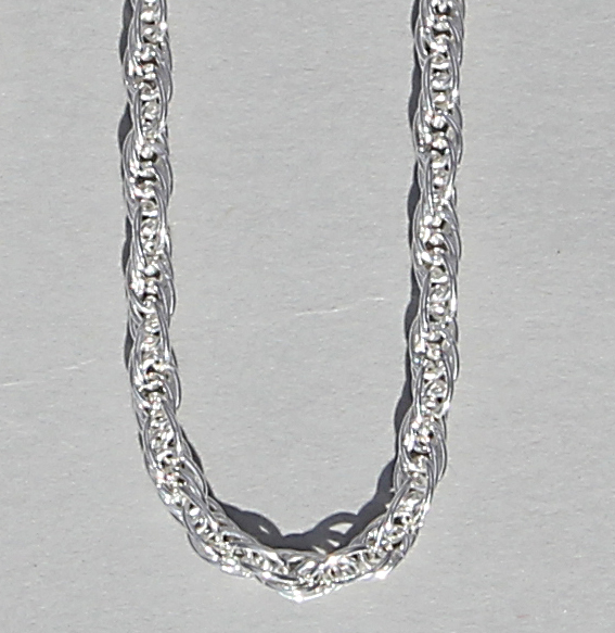 Kordel-Kette silber 2,2mm