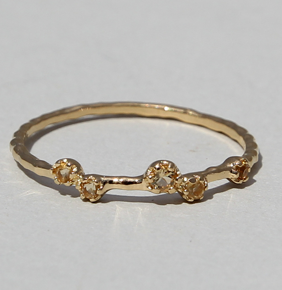 Silberring vergoldet mit Citrin