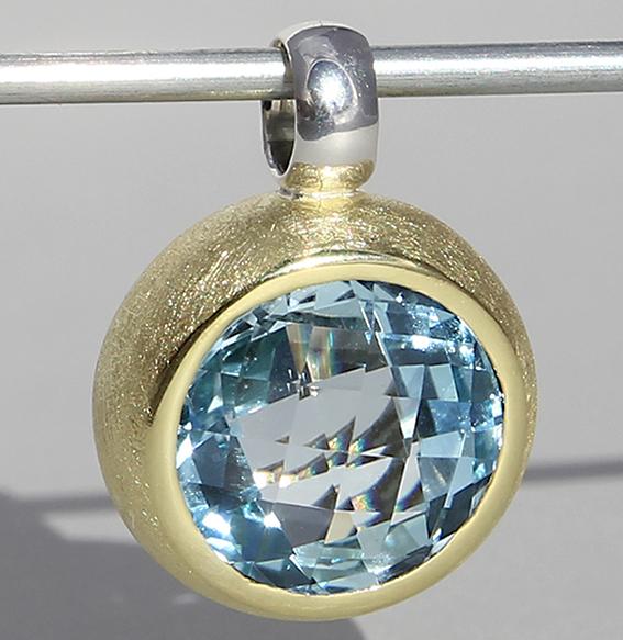 Silberanhänger vergoldet mit Topas