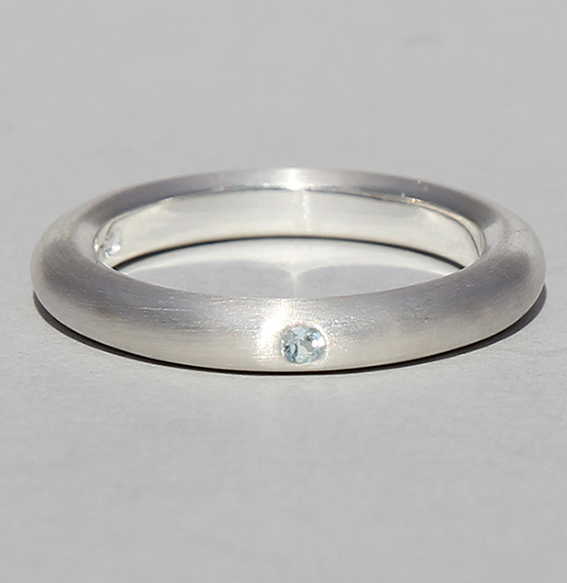 Silberring mit Topas | strack plain