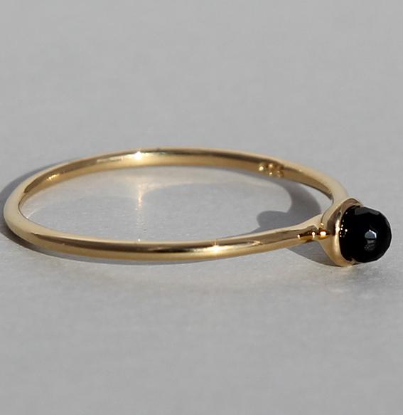 Silberring vergoldet Spinell | Micro