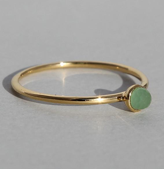 Silberring vergoldet Aventurin | Micro
