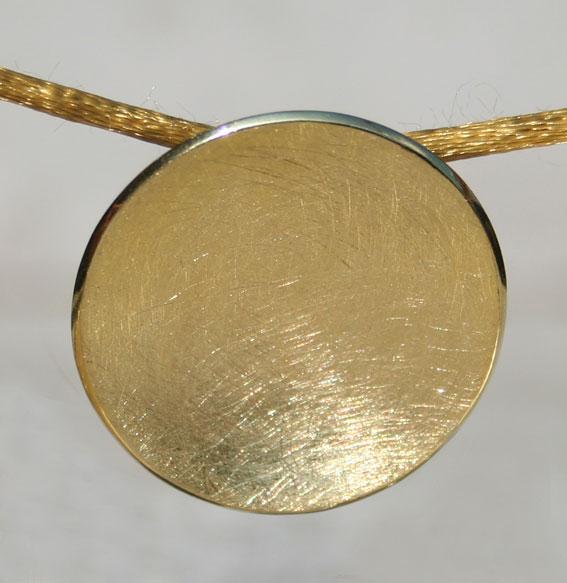 Silberanhänger Schale | vergoldet