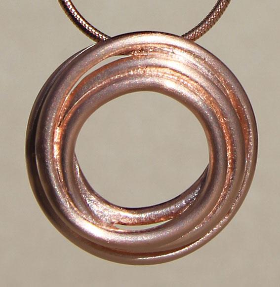 Silberanhänger rosé vergoldet | Cluster