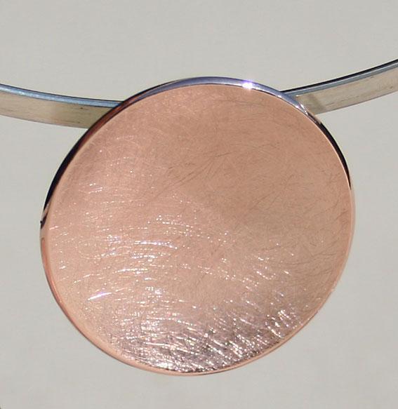 Silberanhänger Schale klein | rosé vergoldet