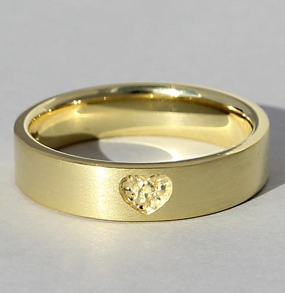 Silberring vergoldet | Love inside
