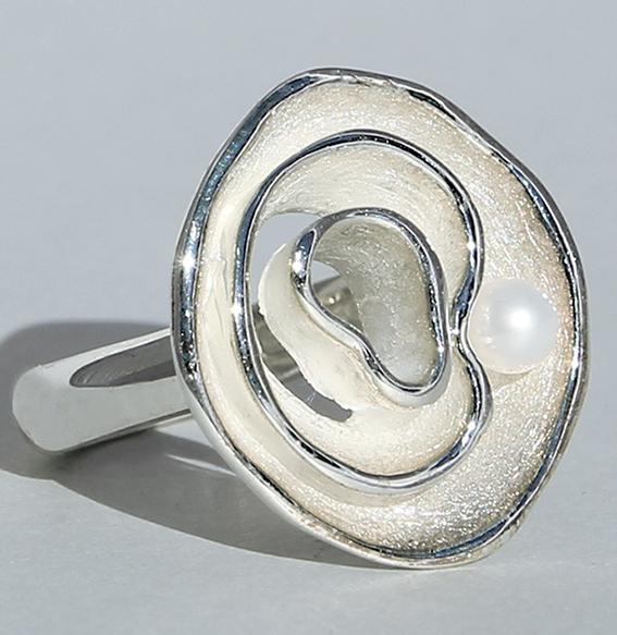 Silberring mit SWZ Perle | Henni
