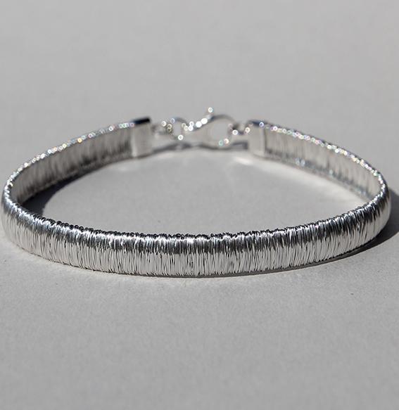 Silberarmband rhodiniert 21cm | River