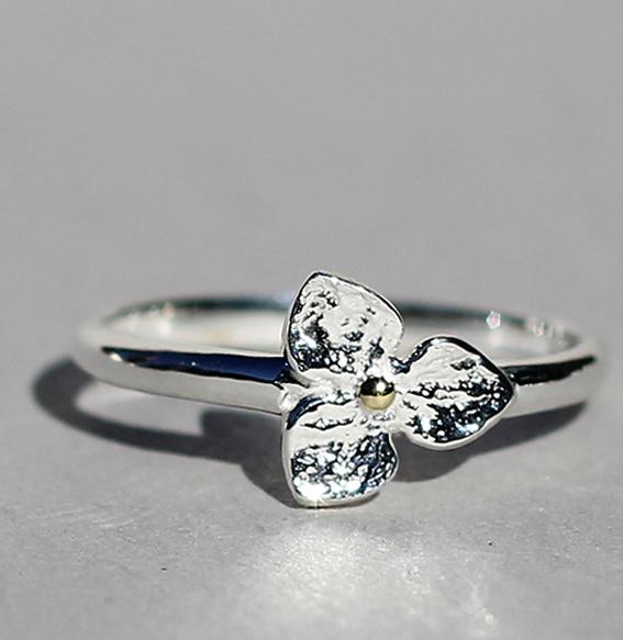 Silberring vergoldet| Floret 1