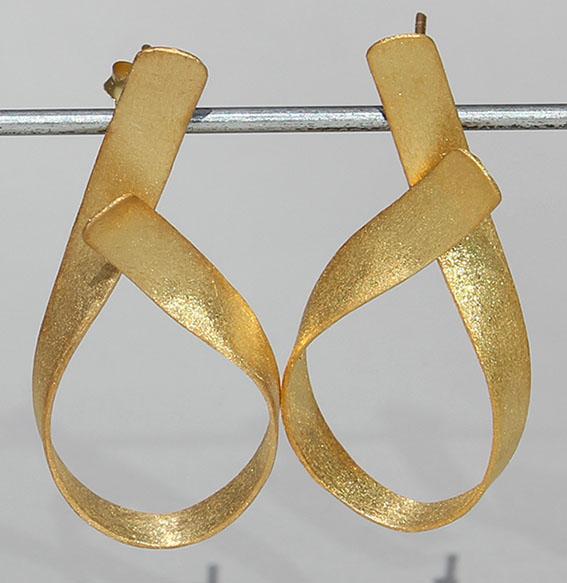 Silberohrstecker vergoldet