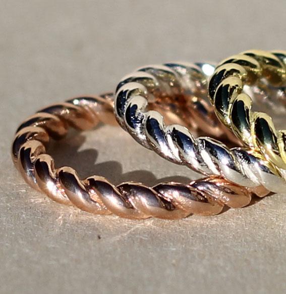 Silberring | Swirl vergoldet