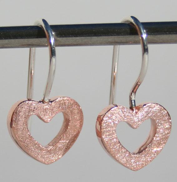 Ohrhänger -Heart- | rosé vergoldet