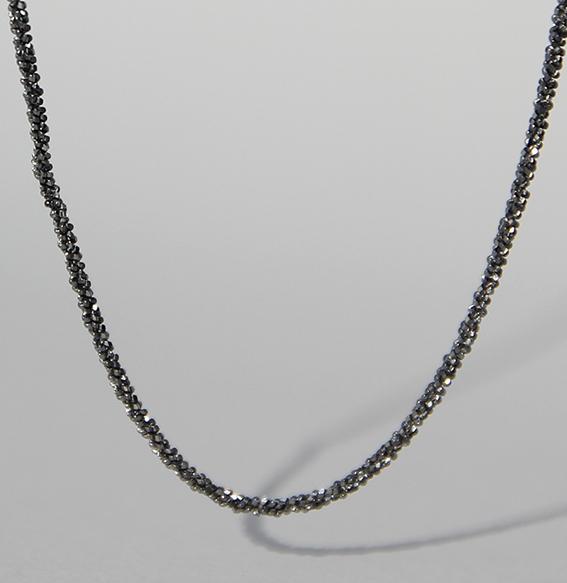 Discokette silber geschwärzt 1,4 mm