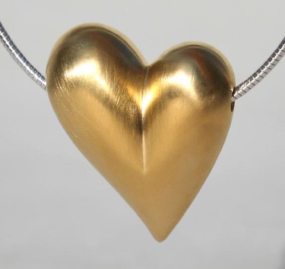 Silberherz vergoldet in ver. Größen