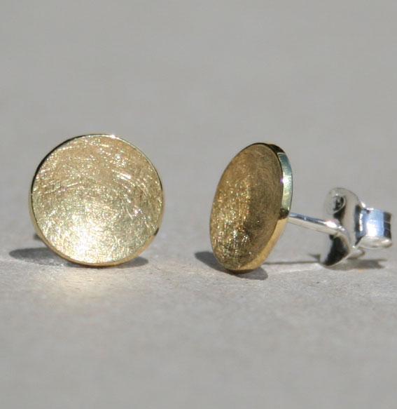 Silberohrstecker Schale | vergoldet