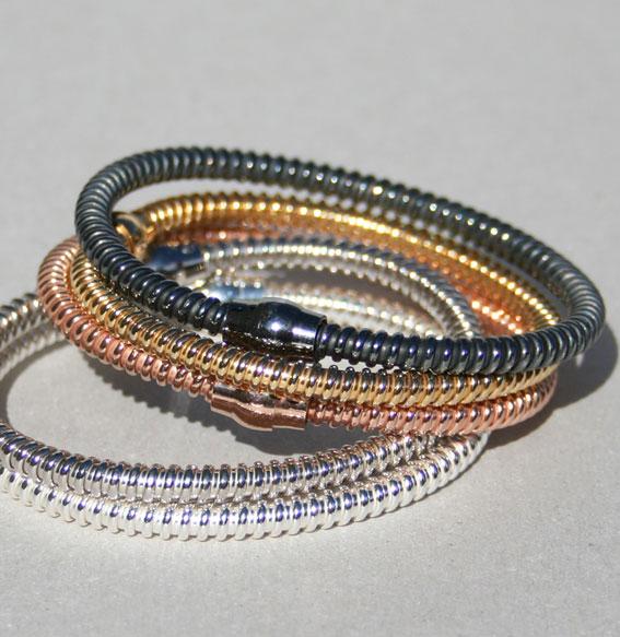 Silberarmband -Glamour- geschwärzt