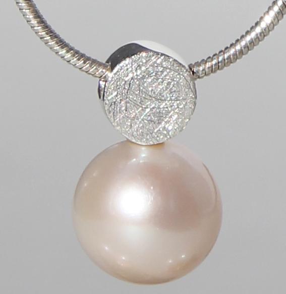 Silberanhänger mit SWZ-Perle | Knopf
