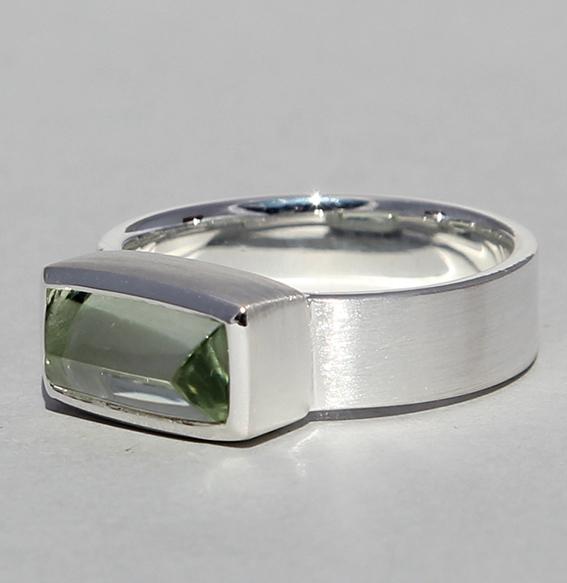 Silberring mit Prasiolith | Gizeh