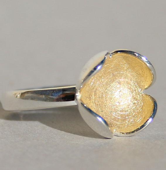 Silberring vergoldet | Tulip