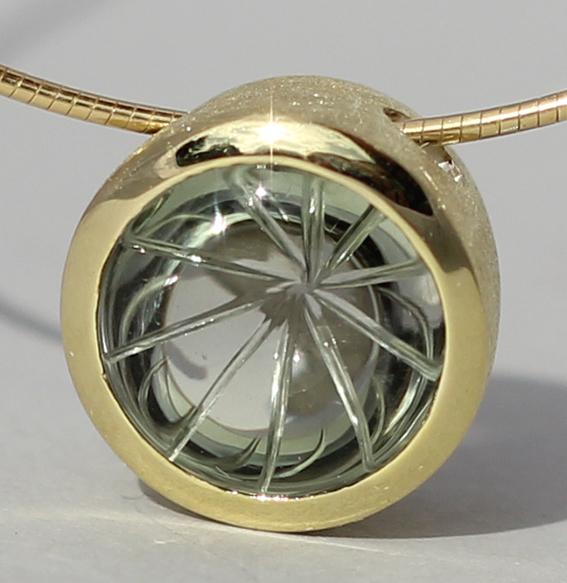 Silberanhänger vergoldet mit Prasiolith | Noblesse