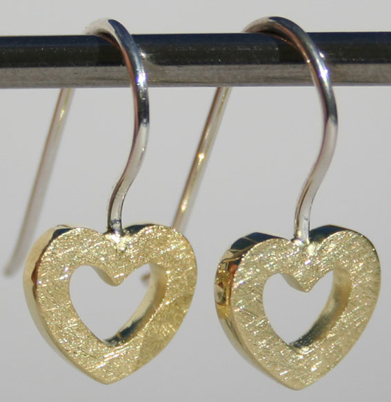 Ohrhänger -Heart- | vergoldet